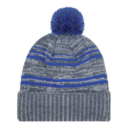 Charcoal/Royal - 9G087M Acrylic / Polyester Micro Fleece Cuff Toque (Pom Pom 8cm) | Hats&Caps.ca