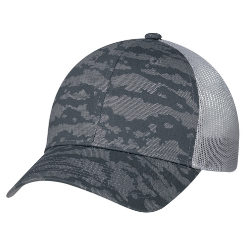 Charcoal/Washed Slate - 3H647M 6 Panel Constructed Full-Fit (Urban Camo, Mesh Back) | Hats&Caps.ca