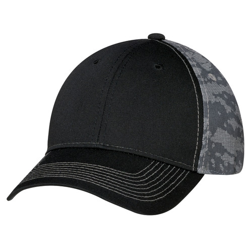 Black/Charcoal - 3K867M 6 Panel Constructed Full-Fit (Urban Camo) | Hats&Caps.ca