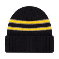 Black/Gold/Slate - 9W198M Acrylic Cuff Toque | Hats&Caps.ca