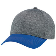Royal/Charcoal -  4L938M 6 Panel Construction Full-Fit Cap | Hatsandcaps.ca