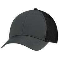 Charcoal/Charcoal/Black - 1B637M Polyester Rip Stop Bonded Mesh Cap | Hatsandcaps.ca