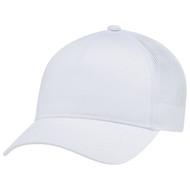 White - 5970L Women's Polycotton / Nylon Mesh Cap | Hatsandcaps.ca