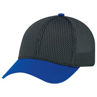 Royal Blue/Black/Charcoal - AC0016 A Class 6 Panel Constructed Contour | Hatsandcaps.ca