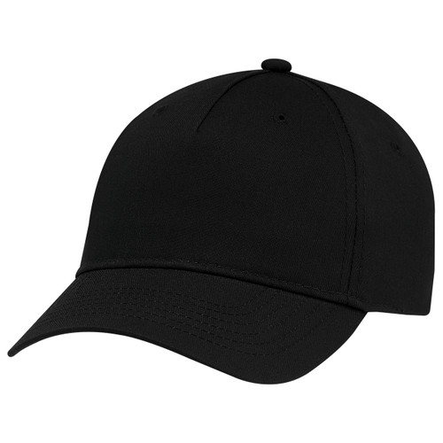 Black - 5910M 5 Panel Constructed Full-Fit-Five Cap | Hatsandcaps.ca