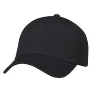 Black - 0A630M 6 Panel Constructed Full-Fit Hat | Hatsandcaps.ca