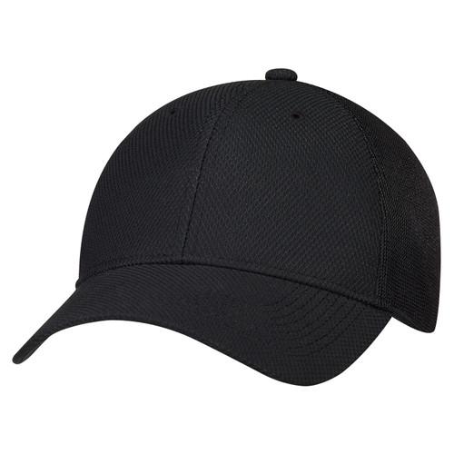 Black - 2H690M Polyester Diamond Sport Mesh Cap | Hatsandcaps.ca