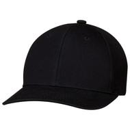 Black - 8F010M 6 Panel Constructed Pro-Round Cap | Hats&Caps.ca