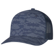 Navy/Navy - 8G017M Cotton Drill/Nylon Mesh Cap | Hats&Caps.ca
