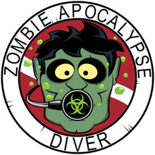 Zombie Diver T-shirts - White