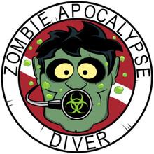 Zombie Diver T-shirts - White