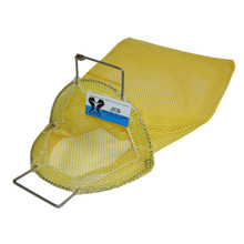 Uncoated Galvanized Wire Handle Mesh Catch Bag, Approx. 24x28 (Yellow)