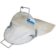 Uncoated Galvanized Wire Handle Commercial Scallop Bag , Approx. 27x28