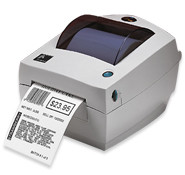 Zebra LP2844 Label Printer -Side view- from Barcodes.com.au