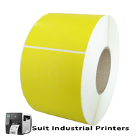 102mm X 150mm Thermal Transfer Yellow Labels LT102150Y-4 from barcodes.com.au