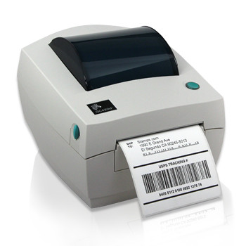 Zebra GC420D Label Printer -Side view- from Barcodes.com.au