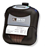 Zebra RW 420 Mobile Printer -Font view- from Barcodes.com.au