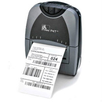 Zebra P4T Mobile Label Receipt Printer -Front view- from Barcodes.com.au