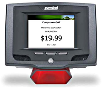 The Zebra MK500 Micro Kiosk -Front view- from Barcodes.com.au