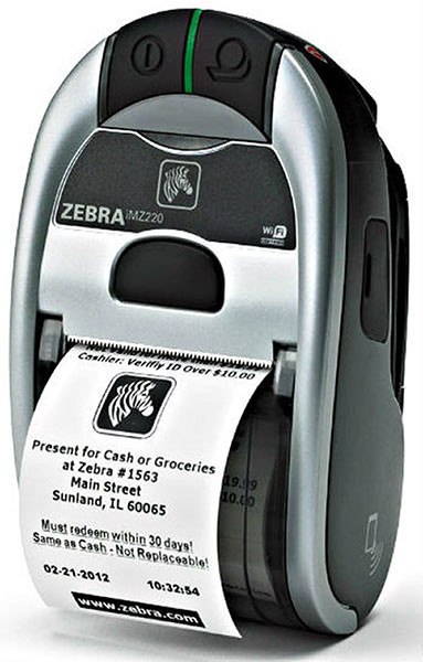 Zebra imz220 Mobile computer-Side-view-from barcodes.com..au