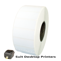40mm X 15mm Direct Thermal Labels LD4015-2.5B to suit Desktop Printers from Barcodes.com.au