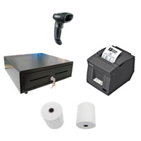 POS Bundle 1-Epson TM-T82II + Cash Drawer + Motorola LI2208 Barcode Scanner+80mmX80mm Receipt rolls-From barcodes.com.au