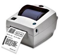 Zebra LP2844-Z Label Printer -Side view- from Barcodes.com.au
