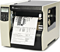 Zebra 220xi4 Industrial Label Printer -Side view- from Barcodes.com.au