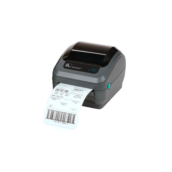 Zebra GK420D Direct Thermal Label Printer -Side view-GK42-2025P0-000