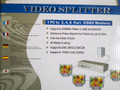 8 WAY VIDEO SPLITTER AND BOOSTER