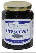 Our very own Blueberry Preserves are all-natural, bursting with whole blueberries, and taste simply amazing. This product is in an individual 18 ounce glass jar with re-closable lid.
