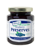 The Blueberry Store's 11.5 ounce No Sugar Added Blueberry Preserves are bursting with the sweet, mouth-watering flavor of Michigan Blueberries.  Packed with whole blueberries, these preserves are thick, rich, and simply delightful. Packaged in glass jar with re-closable lid.