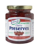 The Blueberry Store's 11.5 ounce No Sugar Added Cherry Preserves are tart, sweet and delicious.  We pack them with whole cherries making them thick, rich, and simply delightful. Packaged in glass jar with re-closable lid.