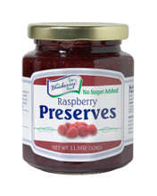 The Blueberry Store's 11.5 ounce No Sugar Added Raspberry Preserves are a fruity, delicious spread. We pack them with whole fruit making them thick, rich, and simply delightful.  Packaged in glass jar with a re-closable lid.