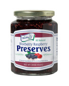 Our 18 ounce Blueberry Raspberry Preserves are all-natural, loaded with our berry favorites... sun-ripened blueberries and red raspberries. Packaged in glass jar with a re-closable lid.