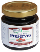 Imagine rich, thick preserves, loaded with our berry favorites: sun-ripened Blueberries, Red Raspberries and Strawberries. Our 4.5 ounce triple berry preserves are packaged in a glass jar with a re-closable lid.