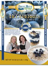 Frozen Blueberries.  Michigan Frozen Blueberries