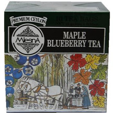 This Blueberry Maple Tea is the perfect balance of sweet caramel notes of maple and fruity blueberry flavors. Each small cardboard box contains 10 single serving tea bags.