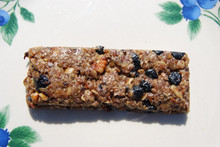 Our 2.25 ounce True Blue Granola Bars are gluten free and loaded with dried blueberries. They make a delicious snack sure to provide you with a much needed energy boost to get you through the day. Vacuum sealed for freshness.