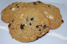 Our dried blueberries are generously spread throughout these delicious, oversized oatmeal cookies! They are Amish Made and oh so tasty!  The Blueberry White Chocolate Chip Oatmeal Cookies are packaged in plastic food safe bags with tie. Each bag contains one dozen cookies.