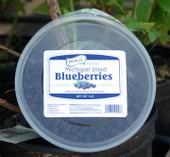 Michigan Dried Blueberries at their finest!  Our dried blueberries are made using only the finest blueberries from True Blue Farms. They are gluten free and do not contain artificial colors or preservatives. This 1 pound resealable package is perfect for baking and snacking.