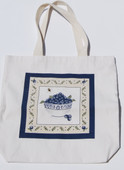 Large Canvas Bowl of Blueberries Tote
