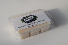 Our 2.9 ounce Blueberry Cheesecake Scented Melties are hand poured in formed and reclosable plastic trays. Each tray contains 6 wax melts that can easily be broken off to use in your favorite warmer. They are off white in color and put of a beautiful fragrance of blueberry cheesecake.