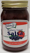 Our 16oz jar of Blueberry Tomato Salsa is a fresh, flavorful blend of blueberries and vegetables. Sweet and mild flavor.