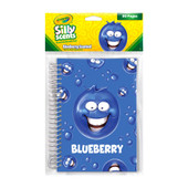 Crayola Silly Scents Blueberry Sketch Pad.      Gourmet scented cover.     250 scratch guarantee     8.3″ height x 5.8″ width.     © 2018 Crayola