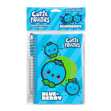 Cutie Fruities Blueberry Scented Sketch Pad.      Scratch and sniff scented cover     Scent guaranteed to last 250 scratches     Each sketch pad contains 80 blank pages     8″ height x 5.5″ width.     Includes matching scented pencil