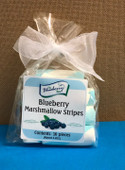 Blueberry Marshmallow Stripes. Aprox.  2.2oz. (10 Pieces)