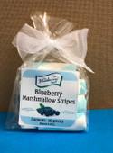 Blueberry Marshmallow Stripes. Aprox.  2.2oz. (10 Pieces)