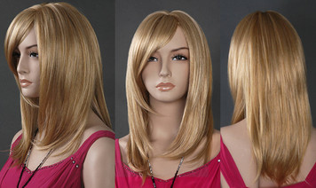 Wig 013: Golden Blond - mid-chest length