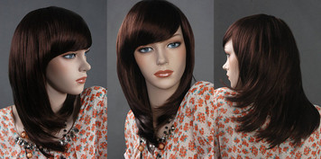 Wig 016: Chestnut Brown - short length